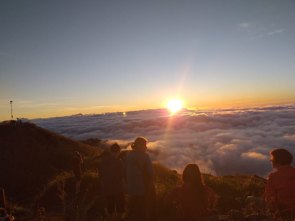 Sunset from crater rim Sembalun
